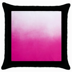 Ombre Throw Pillow Case (black) by ValentinaDesign