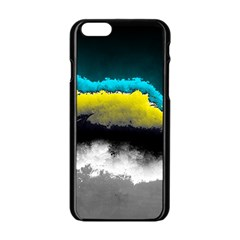 Ombre Apple Iphone 6/6s Black Enamel Case by ValentinaDesign