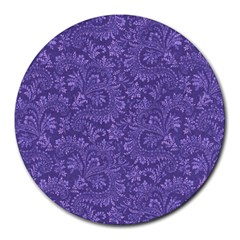 Floral Pattern Round Mousepads by ValentinaDesign