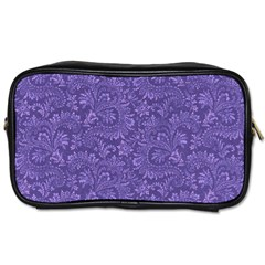 Floral Pattern Toiletries Bags 2 Side by ValentinaDesign