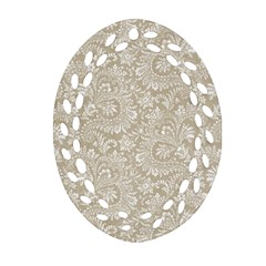 Floral Pattern Ornament (oval Filigree) by ValentinaDesign
