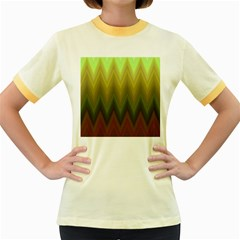 Zig Zag Chevron Classic Pattern Women s Fitted Ringer T Shirts
