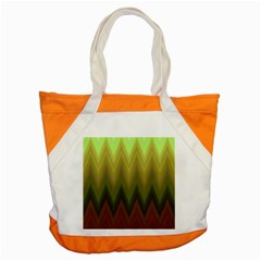 Zig Zag Chevron Classic Pattern Accent Tote Bag