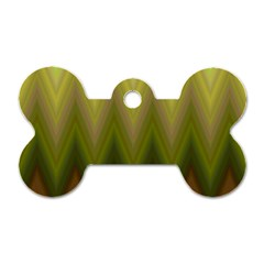 Zig Zag Chevron Classic Pattern Dog Tag Bone (one Side) by Nexatart