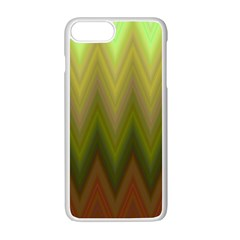 Zig Zag Chevron Classic Pattern Apple Iphone 7 Plus White Seamless Case