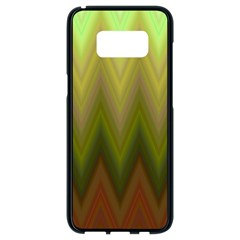 Zig Zag Chevron Classic Pattern Samsung Galaxy S8 Black Seamless Case by Nexatart