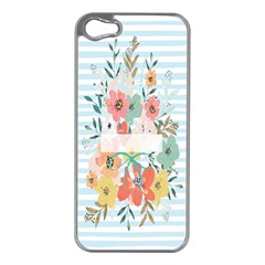 Watercolor Bouquet Floral White Apple Iphone 5 Case (silver) by Nexatart