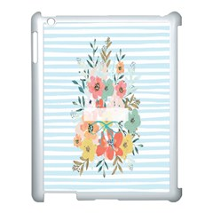 Watercolor Bouquet Floral White Apple Ipad 3/4 Case (white) by Nexatart
