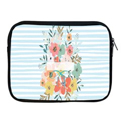 Watercolor Bouquet Floral White Apple Ipad 2/3/4 Zipper Cases