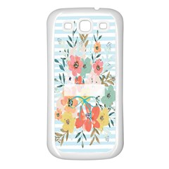 Watercolor Bouquet Floral White Samsung Galaxy S3 Back Case (white) by Nexatart