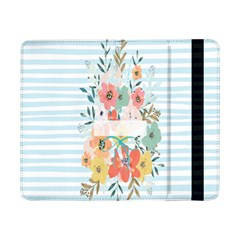Watercolor Bouquet Floral White Samsung Galaxy Tab Pro 8 4  Flip Case