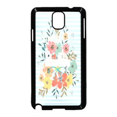 Watercolor Bouquet Floral White Samsung Galaxy Note 3 Neo Hardshell Case (black) by Nexatart