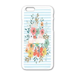 Watercolor Bouquet Floral White Apple Iphone 6/6s White Enamel Case by Nexatart