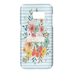 Watercolor Bouquet Floral White Samsung Galaxy S7 Hardshell Case  by Nexatart