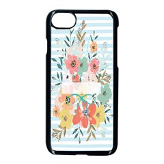Watercolor Bouquet Floral White Apple Iphone 7 Seamless Case (black) by Nexatart