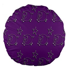 Pig Star Pattern Wallpaper Vector Large 18  Premium Round Cushions by Nexatart