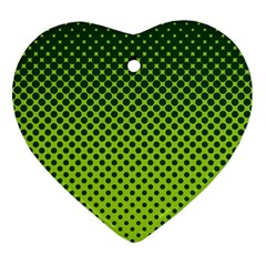 Halftone Circle Background Dot Ornament (heart) by Nexatart
