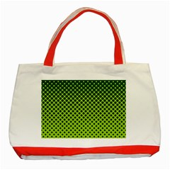 Halftone Circle Background Dot Classic Tote Bag (red) by Nexatart
