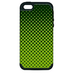 Halftone Circle Background Dot Apple Iphone 5 Hardshell Case (pc+silicone)