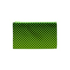 Halftone Circle Background Dot Cosmetic Bag (xs)