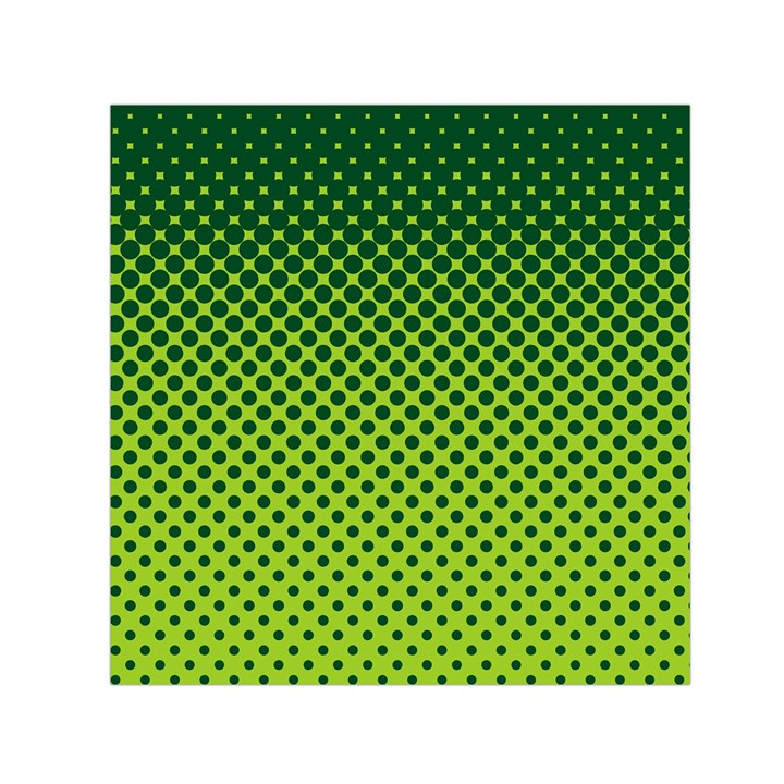 Halftone Circle Background Dot Small Satin Scarf (Square)