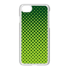 Halftone Circle Background Dot Apple Iphone 7 Seamless Case (white)
