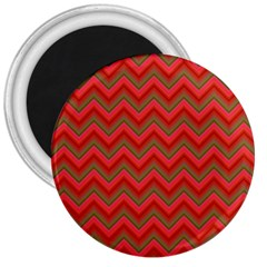 Background Retro Red Zigzag 3  Magnets