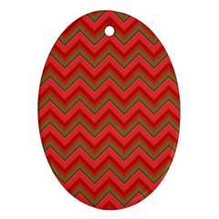 Background Retro Red Zigzag Ornament (oval) by Nexatart