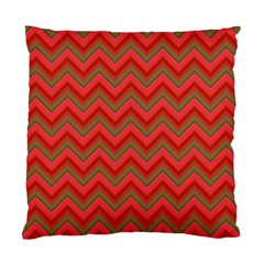 Background Retro Red Zigzag Standard Cushion Case (one Side) by Nexatart