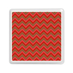 Background Retro Red Zigzag Memory Card Reader (square)