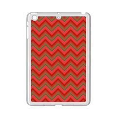 Background Retro Red Zigzag Ipad Mini 2 Enamel Coated Cases by Nexatart