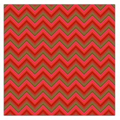 Background Retro Red Zigzag Large Satin Scarf (square)