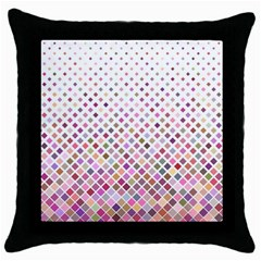 Pattern Square Background Diagonal Throw Pillow Case (black) by Nexatart