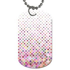 Pattern Square Background Diagonal Dog Tag (two Sides)