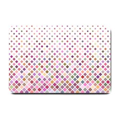 Pattern Square Background Diagonal Small Doormat  by Nexatart