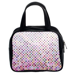 Pattern Square Background Diagonal Classic Handbags (2 Sides)
