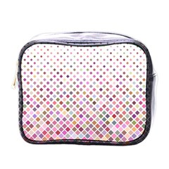 Pattern Square Background Diagonal Mini Toiletries Bags by Nexatart
