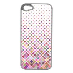 Pattern Square Background Diagonal Apple Iphone 5 Case (silver) by Nexatart