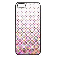 Pattern Square Background Diagonal Apple Iphone 5 Seamless Case (black) by Nexatart