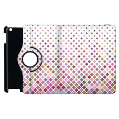 Pattern Square Background Diagonal Apple Ipad 2 Flip 360 Case