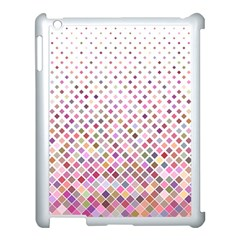 Pattern Square Background Diagonal Apple Ipad 3/4 Case (white)