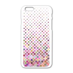 Pattern Square Background Diagonal Apple Iphone 6/6s White Enamel Case by Nexatart