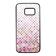 Pattern Square Background Diagonal Samsung Galaxy S7 Black Seamless Case by Nexatart