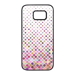 Pattern Square Background Diagonal Samsung Galaxy S7 Edge Black Seamless Case by Nexatart