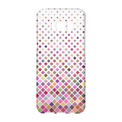 Pattern Square Background Diagonal Samsung Galaxy S8 Hardshell Case  by Nexatart