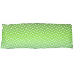 Green Line Zigzag Pattern Chevron Body Pillow Case (dakimakura)