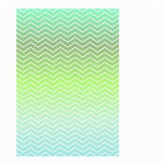 Green Line Zigzag Pattern Chevron Small Garden Flag (two Sides) by Nexatart