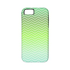 Green Line Zigzag Pattern Chevron Apple Iphone 5 Classic Hardshell Case (pc+silicone) by Nexatart