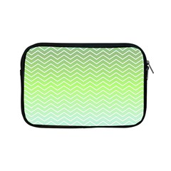 Green Line Zigzag Pattern Chevron Apple Ipad Mini Zipper Cases