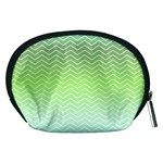 Green Line Zigzag Pattern Chevron Accessory Pouches (Medium)  Back